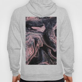 Stylish rose gold abstract marbleized design Hoody
