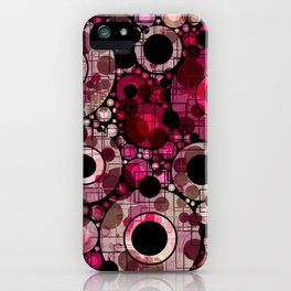Vibrant Abstract Pink Bubbles design iPhone Case