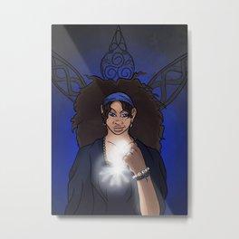 The Clairvoyant Raven Metal Print