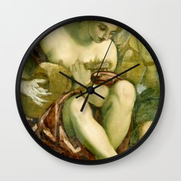"Tintoretto (Jacopo Robusti) ""Muse with Lute"" Wall Clock"