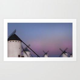 Don Quixote sunset Art Print