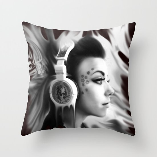 Lost in Lyric, Drowning in sound.  Throw Pillow