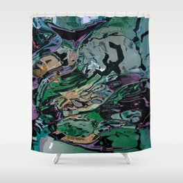 The hulk exploded Shower Curtain