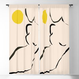abstract minimal nude Blackout Curtain