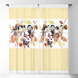 Chickadees in the Fall Blackout Curtain