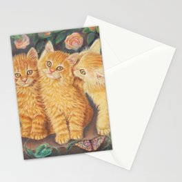 Cats and Roses Stationery Cards