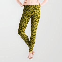 A Plethora Of Pickles - Green & Yellow Gherkin Pattern Leggings