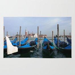 Gondola in  Venice Italy Rug