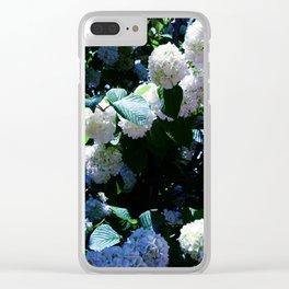 Blue Snowballs II Clear iPhone Case