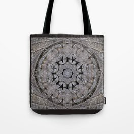 Gothic Romanesque Stone Architecture Mandala Pattern Tote Bag