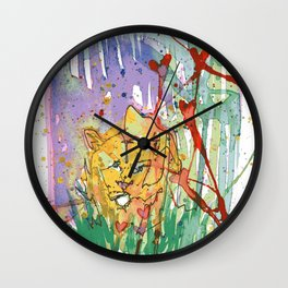 Lonely Lion Hearts Wall Clock