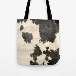 Black & White Cow Hide Tote Bag