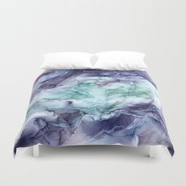 Growth- Abstract Botanical Fluid Art Painting Duvet Cover