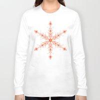 snowflake Long Sleeve T-shirts featuring SnowFlake by Izabela Mikolajczyk