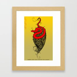 Chinese Zodiac Snake Framed Art Print