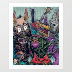 Sid Squish and the Death Collectors Art Print