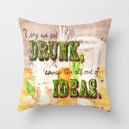 Dos Tequilas, Por Favor Throw Pillow
