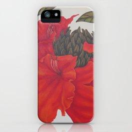 Spathodea Campanulata iPhone Case