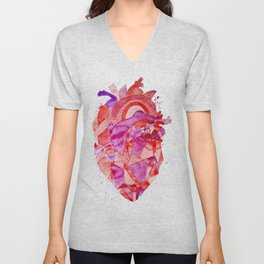 heart Fractal Unisex V-Neck