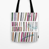 swimming Tote Bags featuring Swimming by Lidia Ganhito