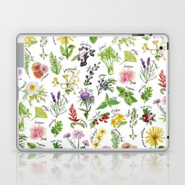 Plants & Herbs Alphabet Laptop & iPad Skin