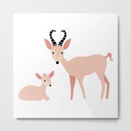 A Herd of Antelope | Mint Metal Print