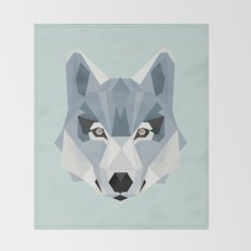 W is for Wolf Throw Blanket