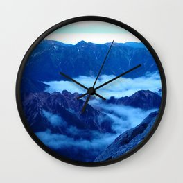 Blue Mountain Morning Wall Clock