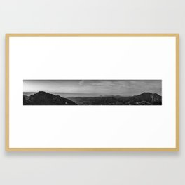 Panorama of the San Gabriel Mountains during Sunset Framed Art Print
