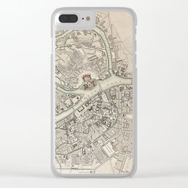 19th Century Topographical Vintage Antique Map St Petersburg Russia Steampunk Clear iPhone Case
