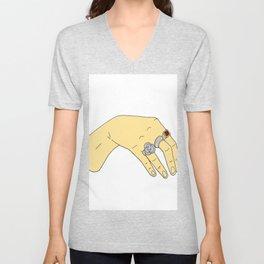 Harry Styles' Hand-- Simple Unisex V-Neck