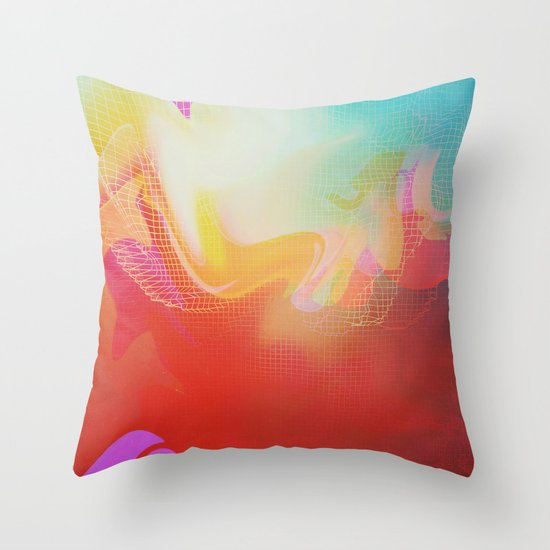 Glitch 30 Throw Pillow
