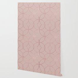 Fire Spark rose gold blush Wallpaper