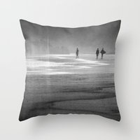 south africa Throw Pillows featuring Surfing South Africa by David Turner