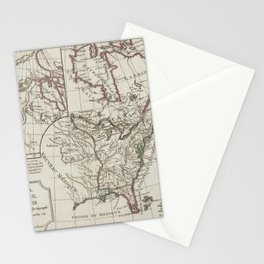 Vintage Map of North America (1795) Stationery Cards