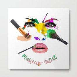 MakeUp Artist, Make up master, fashion Metal Print
