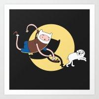 tintin Art Prints featuring Adventure Tin by Moysche Designs