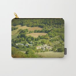 Italian mountain village in autumn landscape Carry-All Pouch