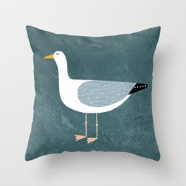 Seagull Standing Throw Pillow