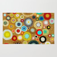 contemporary Area & Throw Rugs featuring Contemporary Circles by Ruth Fitta Schulz