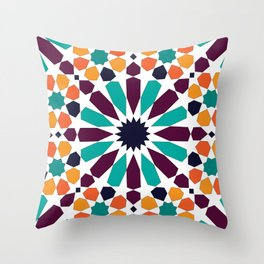 Alhambra tile Throw Pillow