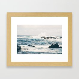 Rough Waters on the Coast of Maui Framed Art Print