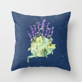 Flora Toad Throw Pillow