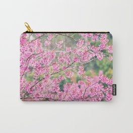 Beautiful pink cherry blossom soft focus Carry-All Pouch
