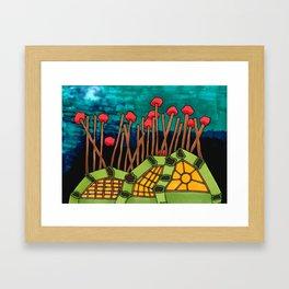 Bent Saplings Nature Center Architectural Illustration Framed Art Print