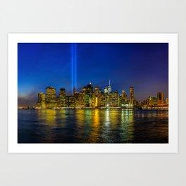 Tribute in Light. New York City Art Print