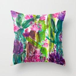 Fiesta Plants Throw Pillow