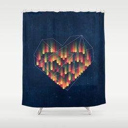 Interstellar Heart II Shower Curtain