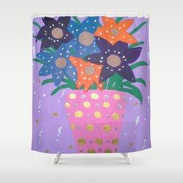 Fiesta Flowers Modern Still Life Shower Curtain