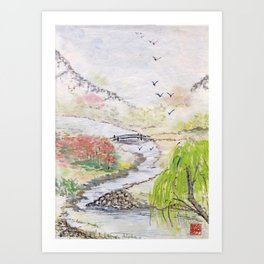 Bridge to Serenity Art Print